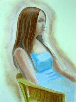 Girl seated