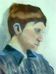 Boy seated