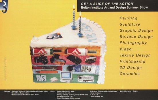 Bolton Institute art design summer show poster