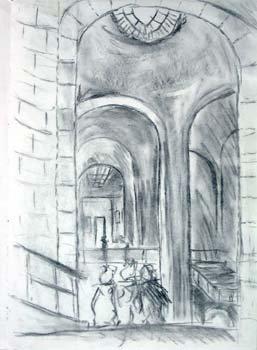 Hallway inside the Louvre