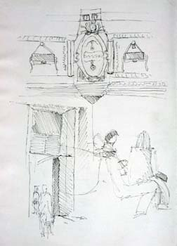 Inside the Louvre (Small sketches)