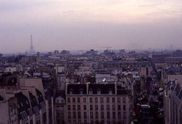 Paris skyline from the Pompidou centre